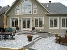 Raised Patio, Steps Out Front, More Steps Off Side | My Eclectic .