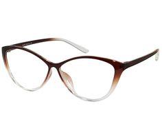 ebbb2dd128 Ebe Bifocal Women Reading Glasses Reader Cheaters Cat Eye Brown TR90 Flex  Prescription Sunglasses
