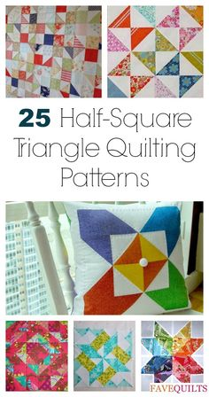 25 Half-Square Triangles Free Quilting Patterns