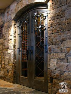 Wine Cellar Door Grill and hardware - contemporary - wine cellar - denver - Dragon Forge LTD Wine Cellar Basement, Door Grill, Home Wine Cellars, Home Pub, Wine Cellar Design, Wine Design, Italian Wine, Iron Doors, Wine Storage