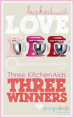 Baked with Love Kitchenaid Giveaway this week at http://therecipecritic.com We are giving away 3 kitchenaids this week!! Head to the blog to enter!!