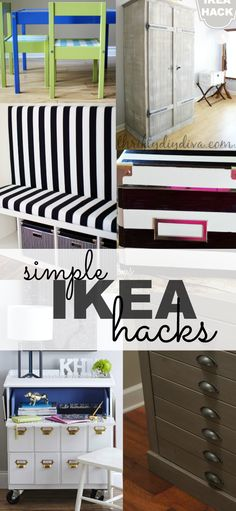 Simple Ikea Furniture Hacks You Need To Know - spruce up your home decor with these semi upcycle projects!