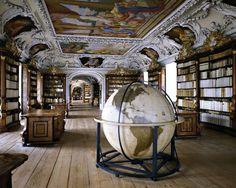 The Library of the Kremsmünster Abby. Austria.