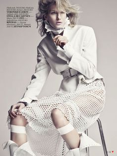 "From VOGUE Turkey, April 2013. After an ""all black"" editorial…should I go all white?"