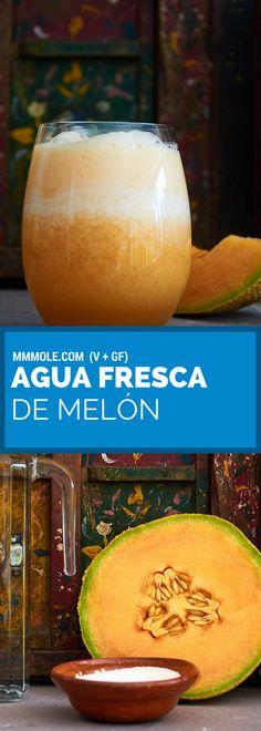 Un agua refrescante de melón con tan solo 3 ingredientes. #recetasmexicanas #recetasveganas #aguasfrescas #recetasfáciles