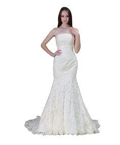 Hhdress Women's Lace Mermaid Bridal Wedding Dress Ivory US2 Hhdress http://www.amazon.com/dp/B00X9IZRV2/ref=cm_sw_r_pi_dp_AlpIvb1GH2X08