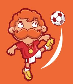 Mr. Mustache - Sports version on Character Design Served