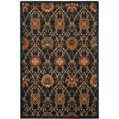 American Rug Craftsmen Davenport Barre Navy 8' x 11' Area Rug (2,120 CAD) ❤ liked on Polyvore featuring home, rugs, stain resistant area rugs, navy rug, navy area rug, dark blue rug and navy blue rug