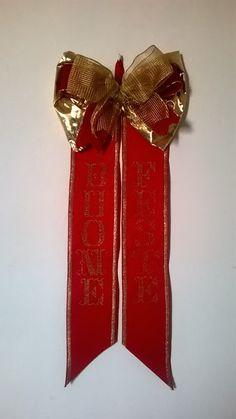 hobby e passioni racchiusi nel mio cassetto: Fiocco di Natale punto croce - Christmas bow cross...