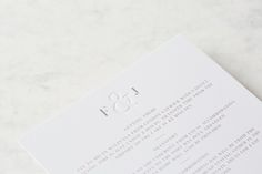 Modern letterpress wedding stationery with blind deboss ampersand and taupe litho printed text.  Click the image to see full suite and purchase details.   #letterpress #modernwedding #weddingstationery #whitewove #classicstationery #blindimpression #ampersand #weddinginspo #stationery #wedding invitations