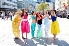 Disney princesses in the heart of Bergen:D