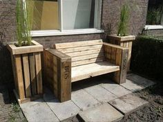 Pallet Garden Benche Ideas