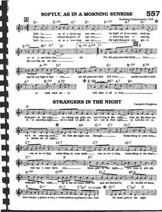 Strangers in the night Free Clarinet Sheet Music, Jazz Sheet Music, Recorder Music, Piano Music, Jazz Guitar Lessons, Music Theory Guitar, Trumpet Music, Jazz Songs, Partition Piano