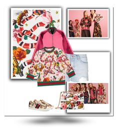 """""""Presenting the Gucci Garden Exclusive Collection: Contest Entry"""" by zoe-keredy ❤ liked on Polyvore featuring Gucci, Topshop, Flowers, gucci, floralprints and summer2016"""