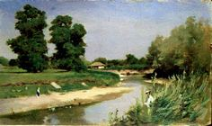 Theodor martie 1831 – 19 august pictor român – G a b i, My heart to your heart Art Database, Impressionism, Illustration Art, Illustrations, Country Roads, Sketches, River, Graphic Design, Painters
