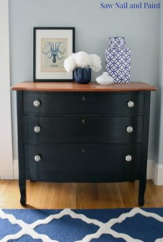 Antique+Dresser+Makeover+With+Veneer+Removal