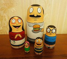 The Bob's Burgers Nested Dolls are a set of Matryoshka dolls with each doll representing a family member from Bob's Burgers. If you don't know what Matryoshka dolls are, they are a set of dolls which ...