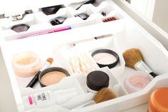 Organizing Cosmetics in a Drawer