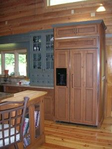 Woodharbor Cabinetry, Somerlake Inset Door, Maple Old Sage Green For Wall  Cabinets, Rustic