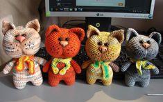 Котики амигуруми вязаные игрушки