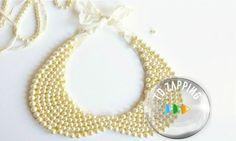 Cómo hacer un collar babero con perlas