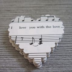 Music Note Heart ...