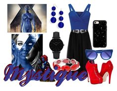 """Mystique Inspired Outfit"" by wannabefamous212 ❤ liked on Polyvore featuring Valentino, Miss Selfridge, Liz Claiborne, Topshop, BaubleBar, CLUSE and Casetify"