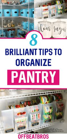 19 Genius pantry organization ideas that really work well! Check out these AMAZING cheap pantry organization hacks for your kitchen! Ikea Pantry, Small Kitchen Pantry, Small Pantry Organization, Kitchen Pantry Design, Home Organization Hacks, Organized Pantry, Pantry Ideas, Organizing Tips, Organizations