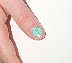 6 EXTRA Small (NAIL) Monogram Vinyl Decals  too much monogram? i dont think so!