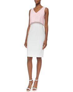 Mercy Sleeveless V-Neck Popover Combo Dress, Women's, Size: 12, Cloud Pink Freeze - Black Halo