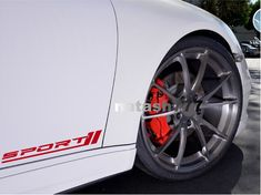 RED Racing Sport Car Emblem sticker SUPERCHARGED Door Handle Decal Kit