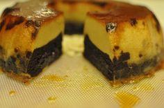 Tort cu crema caramel si crema de ciocolata cu cafea — Alina's Cuisine Creme Caramel, Flan, Sushi, Muffin, Breakfast, Ethnic Recipes, Desserts, Sweets, Romanian Recipes