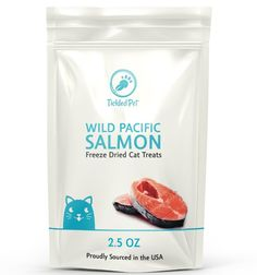 Wild Pacific Freeze Dried Salmon Cat and Dog Treats 2.5oz by TickledPet ** Want to know more, click on the image. (This is an affiliate link and I receive a commission for the sales)