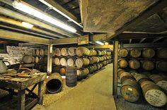 Inside Laphroaig distillery warehouse no1, Isle of Islay