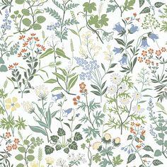 Boråstapeter Flora White Wallpaper main image
