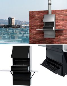 Designer outdoor grills with the culmination of modern design for the garden Bbq Grill, Grilling, Modern Outdoor Grills, Patio Chico, Built In Braai, Grill Time, Grill Design, Terrazzo, Outdoor Living