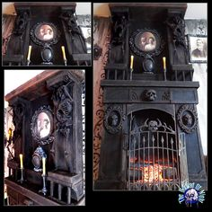 New addition to fireplace prop for Halloween 2017 .