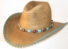 304da79bd49 One of a kind Custom Hand-Made Palm Leaf Cowboy hat by Rose Arland  Collection