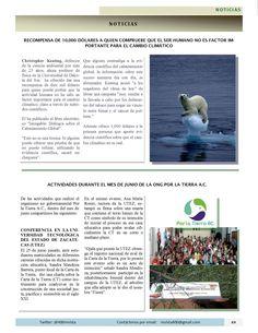 Sección #Noticias de la #Revista400 publicación mensual con temas de desarrollo sustentable desde lo económico, social, político, cultural y ecológico. #Zacatecas #Aguascalientes #Jalisco #cambioClimático #PorlaTierra #Xlatierra