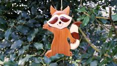 Intarsia Wood Art by GielishWoodSculpture on Etsy Wood Carving Art, Wood Art, Port Orford Cedar, Holiday Tree, Holiday Decor, Sequoia, Intarsia Wood, Racoon, Western Red Cedar