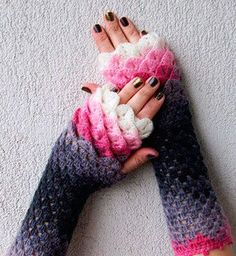 These Dragon Gloves - they look like they're covered in scales; perfect for the winter!