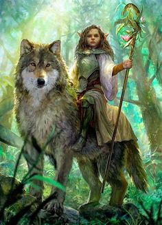 f Halfling Cleric Med Armor Staff Wolf Mount forest hills community farmland midlvl