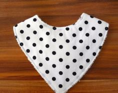 Handmade monochrome organic cotton dribble by SewWhatchaWantBaby