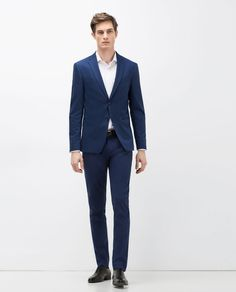 Image 1 of TEXTURED WEAVE SUIT TROUSERS from Zara