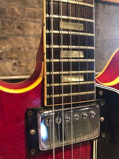 Gibson ES 335 1966 Cherry | Gold 'n' Guitars | Reverb Gibson Electric Guitar, Gibson Es 335, Gold N, Guitar Amp, Guitars, Brown Leather, Cherry, Prunus, Guitar