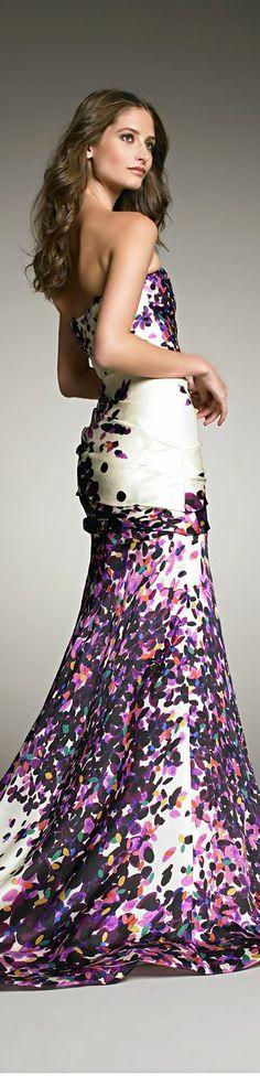 Monique Lhuillier silk gown