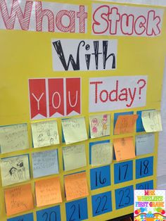What Stuck With You?  Great anchor chart for many things! Quick survey, ticket out the door, checking for understanding, etc.
