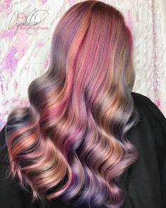 METALLIC HAIR instagram @cryistalchaos #rainbowhair #silverhair #pastelhair #purplehair #virginiabeach #hollywoodhair @hairtips