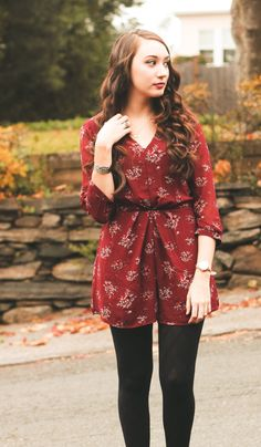 Rompers aren't just for summer! Here's a perfect seasonal one for winter and the holidays.