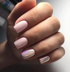 50 Sweet Pink Nail Design Ideas para uma manicure que é exatamente o que você precisa Pastel Nails, Blue Nails, White Nails, White Summer Nails, Accent Nail Designs, White Nail Designs, Nail Color Combos, Nail Colors, Glitter Accent Nails